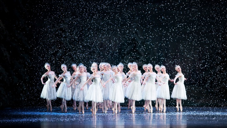 The Nutcracker by Tchaikovsky, Artists of the Royal Ballet (as Snowflakes) The Royal Opera House 2009, Credit Johan Persson