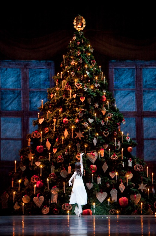 The Christmas tree from The Royal Ballet's The Nutcracker. Photo by Johan Persson