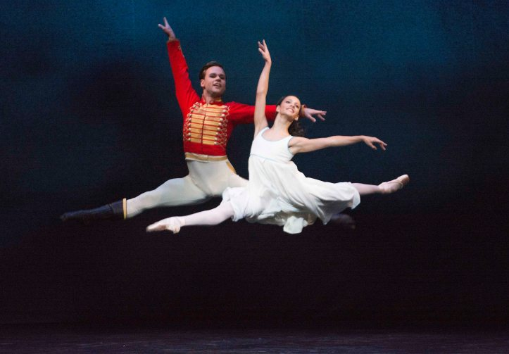 THE NUTCRACKER ; Music by Tchaikovsky; Alexander Campbell (as The Nutcracker) and Francesca Hayward (as Clara) ; The Royal Ballet ; At the Royal Opera House, London, UK, 2013 ; Credit: Tristram Kenton / Royal Opera House / ArenaPAL